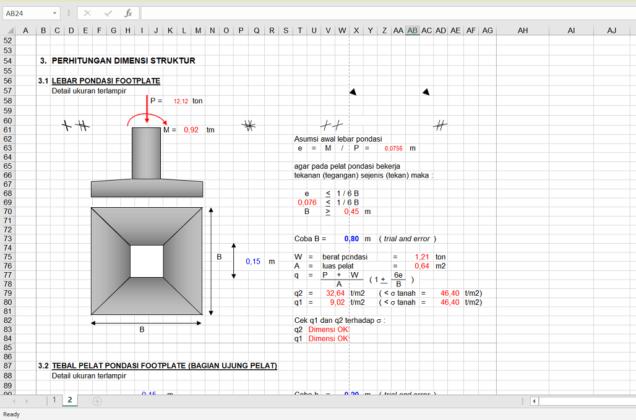 perhitungan struktur pondasi