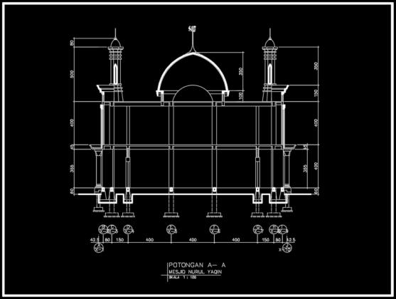 potongan a-a masjid