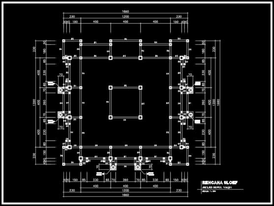 rencana sloof masjid