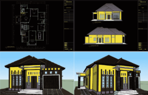 rumah 1 lantai type 230 m2