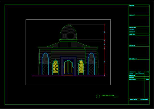 tampak depan masjid 15x15m