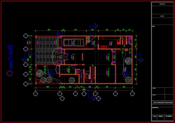 denah lantai dasar rumah minimalis 2 lantai ukuran 10x20 meter