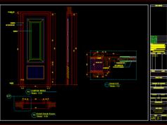 gambar kerja detail pintu