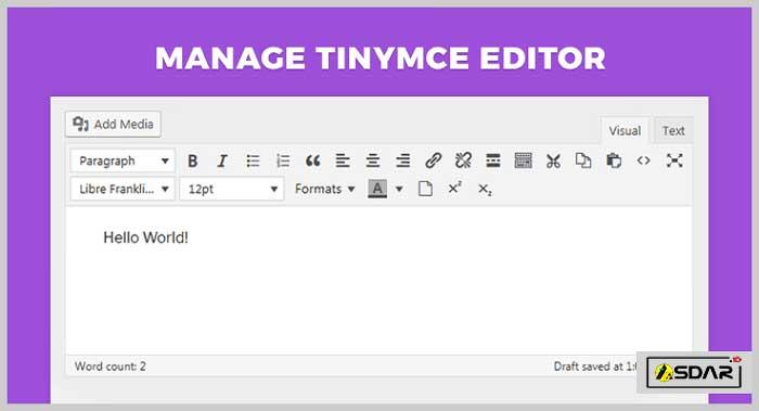 manage tinymce editor