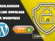 menghilangkan url link download pada wordpress