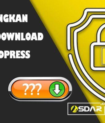 menghilangkan url link download pada wordpress