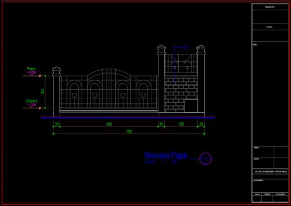 rencana pagar rumah 3 lantai ukuran 7x20 meter