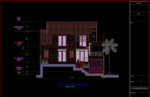 rumah 2 lantai uk 12,35m x 20,40m