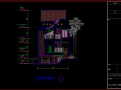 tampak depan rumah 3 lantai ukuran 7x20 meter