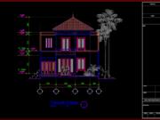 tampak depan rumah minimalis 2 lantai ukuran 10x20 meter