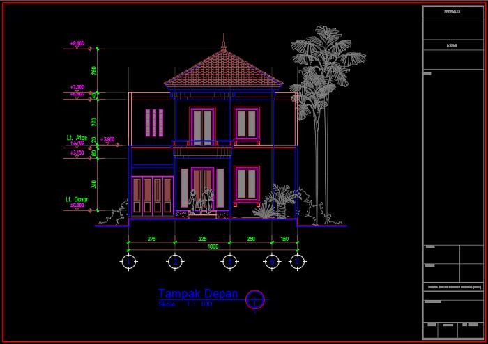 Desain Rumah 2 Lantai Dwg  710 gambar rumah minimalis autocad hd terbaru gambar rumah