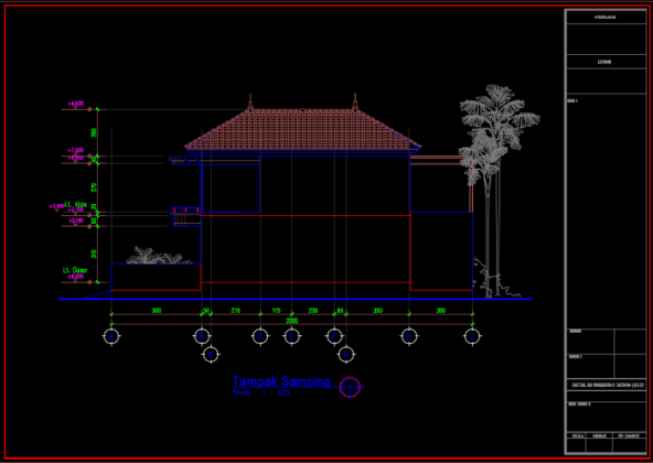 tampak samping rumah minimalis 2 lantai ukuran 10x20 meter