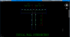 detail perpotongan dinding (wall intersection)