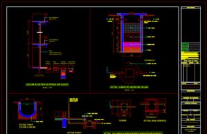 detail saluran pembuangan atau parit resapan air hujan