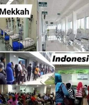 perbedaan rumah sakit di mekkah dan indonesia