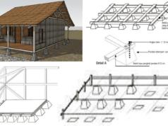 rumah kayu dinding papan dengan pondasi setempat