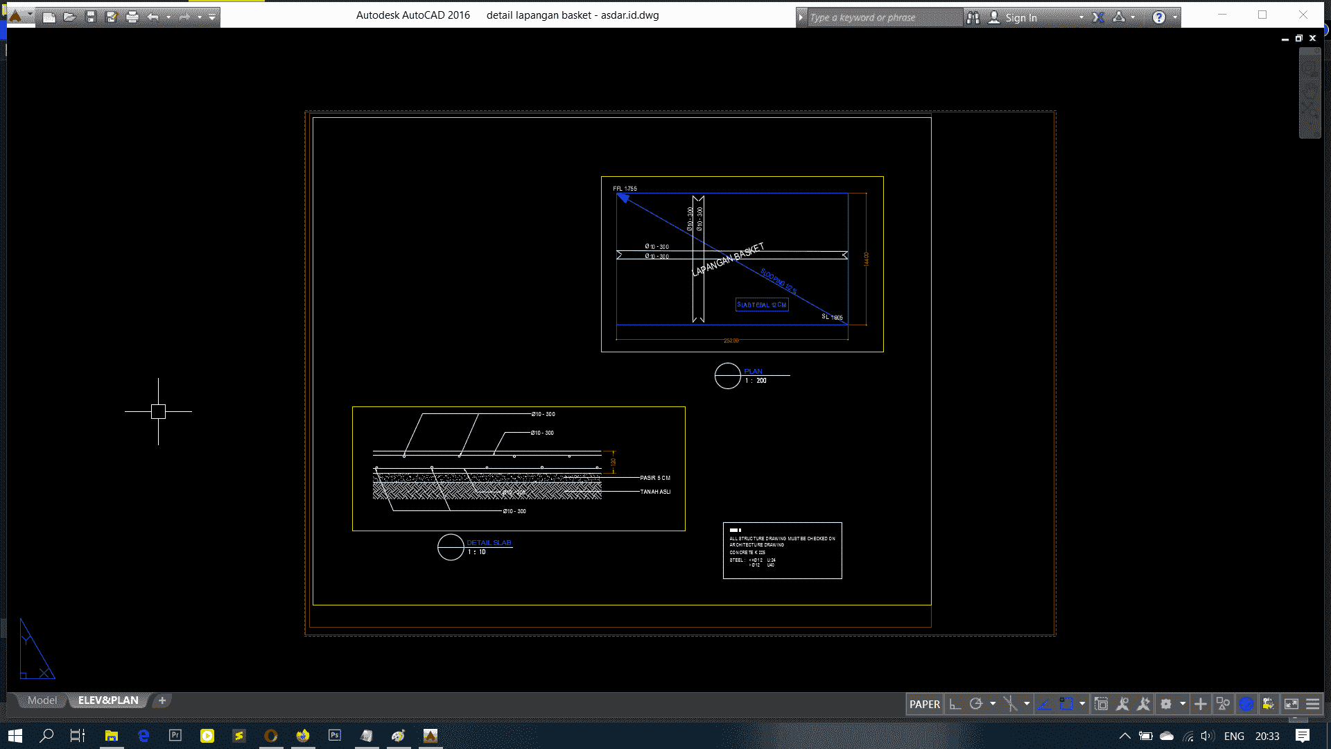 Download Gambar Detail Lapangan Basket Format Dwg Autocad Asdar Id