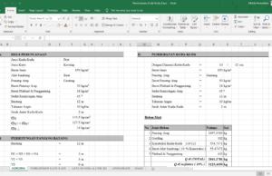 perhitungan perencanaan kuda-kuda kayu