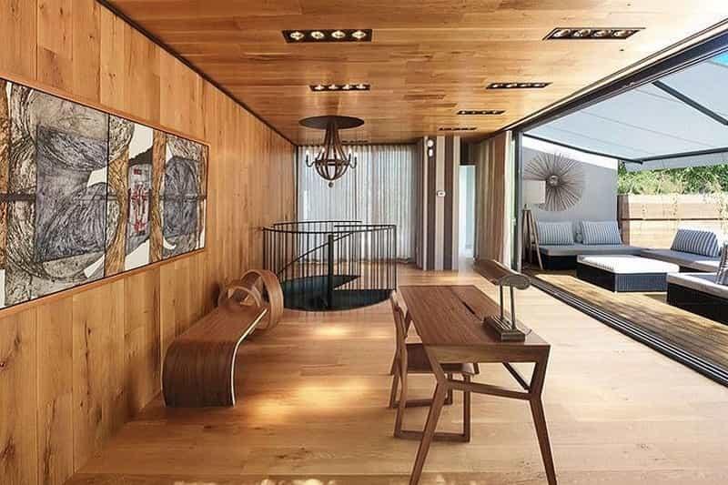 teras lantai kayu