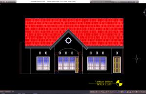 desain rumah tinggal 13x15 meter