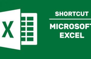shortcut microsoft excel