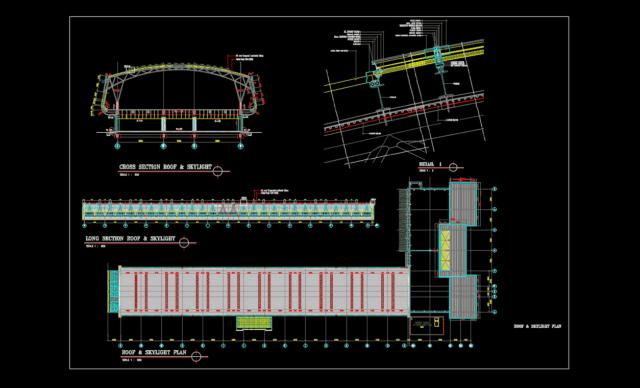 detail konstruksi atap skylight