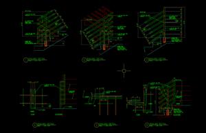 detail railing tangga