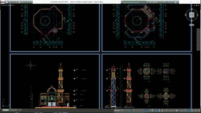 desain arsitektur masjid modern