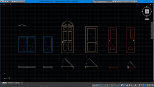 jendela dan pintu plus simbol