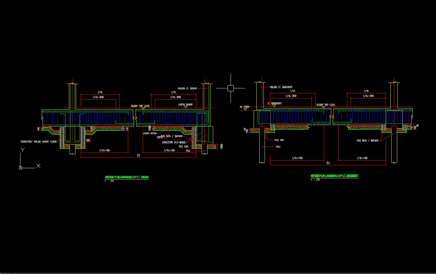 Download Gambar Skema Penulangan Sloof Format Dwg Autocad Asdar Id