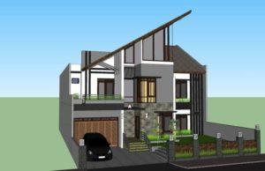rumah 2 lantai minimalis modern