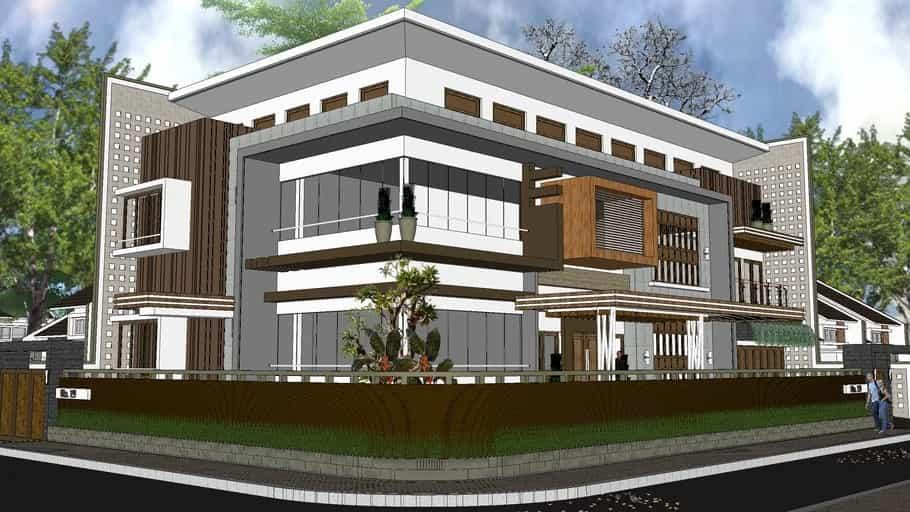 Download Rumah Mewah 2 Lantai Format Skp Sketchup Asdar Id