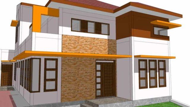 rumah tinggal 2 lantai skp