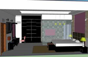 desain interior kamar tidur skp