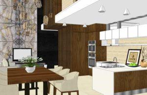 desain kitchen set skp