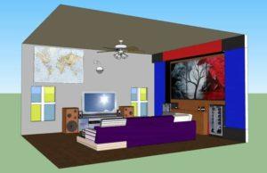 desain ruang keluarga skp