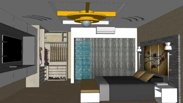 desain kamar tidur skp