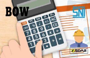 perbedaan analisa bow sni dan kontraktor