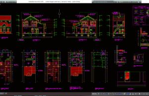 rumah tinggal sederhana 2 lantai 6x7 meter