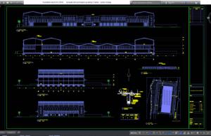 desain gudang 2 lantai