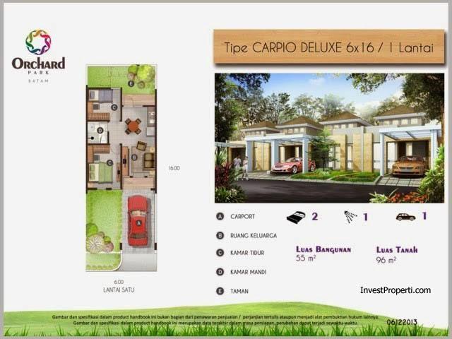 rumah tipe carpio 6x16