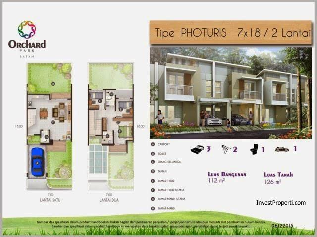 rumah tipe photuris 7x18 2 lantai