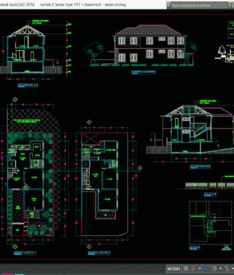 rumah 2 lantai type 111 + basement