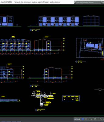 gudang pabrik 3 lantai